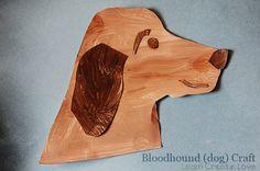 Bloodhound Dog Craft