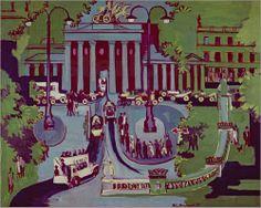 Ernst Kirchner Poster Print Wall Art Print entitled The Brandenburg Gate, Berlin, 1929 (oil on canvas), None Canvas Wall Art, Wall Art Prints, Oil On Canvas, Poster Prints, Städel Museum, Ernst Ludwig Kirchner, Berlin Art, Brandenburg Gate, Framed Artwork