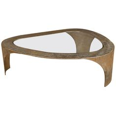 Silas Seandel - Brutalist Coffee Table | From a unique collection of antique and modern coffee and cocktail tables at http://www.1stdibs.com/furniture/tables/coffee-tables-cocktail-tables/