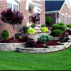 Ideas Front Yard Landscaping Small Rectangular Front Garden Design Ideas Awesome Landscape Design Ideas Front Of House Front Yard Landscaping Front Yard Landscaping Ideas With River Rock Landscaping Around House, Outdoor Landscaping, Front Yard Landscaping, Landscaping Shrubs, Terraced Landscaping, Residential Landscaping, Luxury Landscaping, Retaining Wall Landscaping, Landscaping Blocks