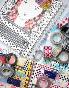 Alisa Burke — tape it Alisa Burke, Washi Tape Cards, Art Journal Pages, Art Journaling, Decorative Tape, Craft Items, Medium Art, Live For Yourself, Arts And Crafts