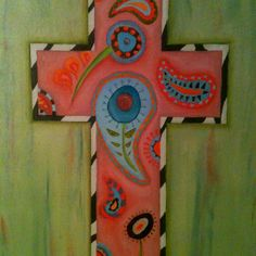 Painted cross!! :)
