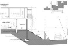 Plano de estrcturas de vivienda unifamiliar de 2 pisos: sección (corte) de fundaciones mail: consultores@arqydis.cl