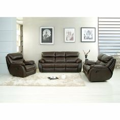 A C Pacific Jonathan Leather Reclining Living Room Set by A C Pacific Corp. $2349.99. A family that reclines together stays together could be the theme for the A C Pacific Jonathan Leather Reclining Living Room Set. Wrapped in rich, bonded leather and fitted with metal legs, this three-piece set offers exceptionable structural integrity topped with extra dense foam encased in individual pocked coils for maximum comfort.About AC PacificFounded in 1995 in Southern California, ...