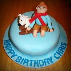 TinTin cake • Tintin birthday cake • Tintin gateaux