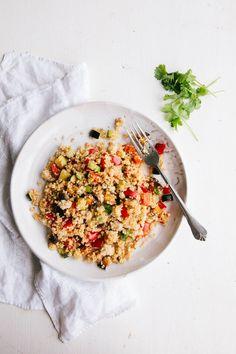 Roast Vegetable Quinoa Salad (Vegan, Gluten-free + Paleo)