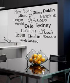 Wall decal  CAPITALS   loony bin by LoonyBinWorkshop on Etsy