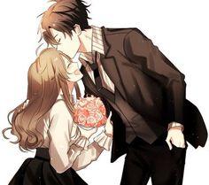 Jumin x MC uploaded by Şħouŧo on We Heart It - anime, couple, and mystic messenger image - Manga Couple, Anime Love Couple, Couple Art, Anime Couples Manga, Cute Anime Couples, Anime Girls, Anime Couples Cuddling, Manga Girl, Jumin Han Mystic Messenger