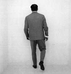 """Yves Klein """"Camina en el vacio"""" at """"The void"""" exhibit Gallery Iris Clert  Paris  (1958). Albert Camus said: """"With the void, full empowerment."""""""