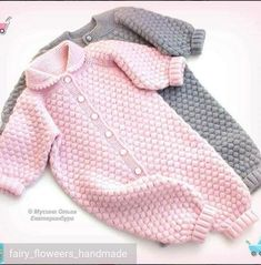 Jumpsuit for baby Bubbles - buy or order in the online store at the Fair of Masters - EkaterinburgThis Pin was discovered by ner Baby Knitting Patterns, Knitting For Kids, Crochet For Kids, Baby Patterns, Knitted Baby Outfits, Knitted Baby Clothes, Knitted Romper, Crochet Clothes, Baby Bubbles