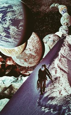 Outer Landscape. surreal mixedmedia Collage Art by Ayham Jabr.