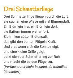 Schmetterling Gedicht | Wierszyki | Pinterest ...