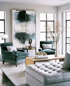 Statement walls are creating a buzz. They are big and here to stay. I'm sharing some inspiration & ideas to help you create a big impact on your walls.Designer/ Leverone Designs...