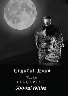Crystal Head Vodka Dubbel Magun - 3000ml edition. Crystal Head Vodka, Christmas Bulbs, Spirit, Pure Products, Crystals, Holiday Decor, Christmas Light Bulbs, Crystal, Crystals Minerals