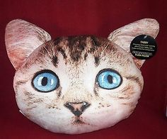 Expressions Plush Pillow Tabby Cat Kitty Throw Pillow NWT Free Shipping