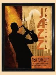 Jazz festival poster advertisement