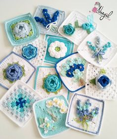 Crochet cushion cover, handmade cover in cotton and natura Crochet Cushion Cover, Crochet Pillow Pattern, Crochet Cushions, Crochet Quilt, Granny Square Crochet Pattern, Crochet Flower Patterns, Crochet Squares, Crochet Motif, Crochet Flowers