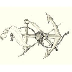 Anchor / skull illustration #anchor https://www.facebook.com/pages/Creative-Boys-Club/574340755933728?ref=ts=ts