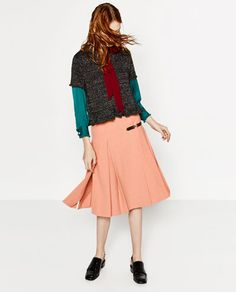 MIDI BOX PLEAT SKIRT-NEW IN | ZARA Spain