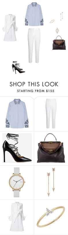 """Untitled #7721"" by explorer-14576312872 ❤ liked on Polyvore featuring Tory Burch, Michael Kors, Valentino, Fendi, Skagen, EF Collection and Goen.J"