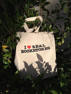 I Heart Real Bookstores Tote Bag from Capitola Book Café