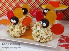 turkey popcorn ball