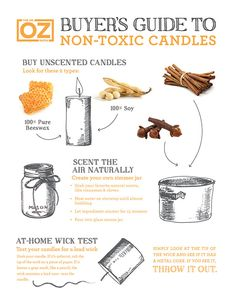 Follow this guidelines to buy and make non-toxic candles.