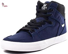 Supra Stacks Vulc II, Sneakers Basses Mixte Adulte - Noir (Black/Black - Black BBB), 42.5 EU