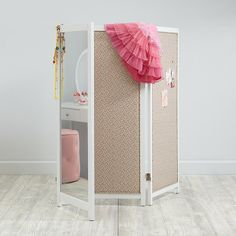 Strike A Pose Changing Screen Features Upholstered Floral Fabric On One  Side And High Quality Shatter Proof Acrylic Mirror Panels On The Other.