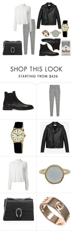 """""""Untitled #107"""" by nuage-orage on Polyvore featuring Common Projects, Alexander Wang, Rolex, Yves Saint Laurent, T By Alexander Wang, Irene Neuwirth, Gucci and Cartier"""
