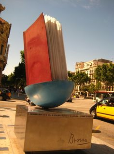 Monument book in Barcelona, Spain.  Barcelona