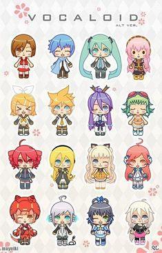 Chibi Vocaloid execpt for Teto. Shes an UTAU. Anime Chibi, Kawaii Anime, Manga Anime, Anime Art, Wallpaper Memes, Kawai Japan, Vocaloid Characters, Pokemon, All Meme