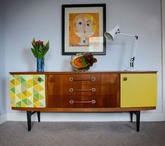 RETRO-VINTAGE-TEAK-MID-CENTURY-DANISH-STYLE-CHEST-SIDEBOARD-ERA-60s-70s