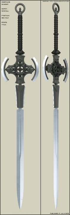 Time ago I uploaded sword concept Elwyn. Now I add another concept meant to be family with elwyn. Technical principles are same as Elwyn. Used program: max +Vray engine+Photos.