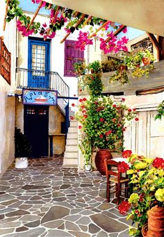 Courtyard, Naxos, Greece