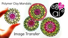 How to make Polymer Clay Mandala with Image Transfer Technique