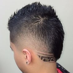 fauxhawk with shaved nape design for boys