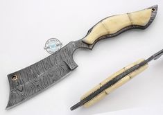 "10.50"" Custom Hand made Beautiful Damascus Steel Razor Knife (AA-0176-57) #UltimateWarrior"