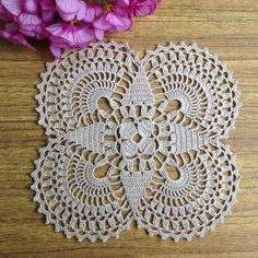Items similar to Small doily Light beige Crochet Napkin Crochet Doily Handcrafted Home Decor. on Etsy : Items similar to Small doily Light beige Crochet Napkin Crochet Doily Handcrafted Home Decor. on Etsy Crochet Square Patterns, Doily Patterns, Crochet Squares, Crochet Designs, Crochet Dollies, Crochet Flowers, Crochet Home, Crochet Gifts, Filet Crochet