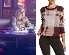 Riverdale: Season 2 Episode 14 Betty's Plaid Burgundy Sweater