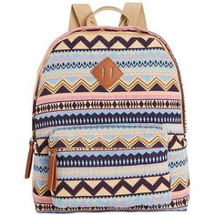 Madden Girl Bkoach Backpack ($25) ❤ liked on Polyvore featuring bags, backpacks, purple aztec, backpacks bags, strap backpack, strap bag, purple bag and print bags