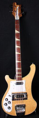 Vintage 1971 Rickenbacker 4001 Mapleglo Bass Left Handed Checkerboard Bound OHSC | eBay