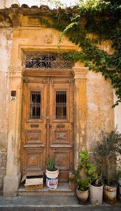 old #door. #Nicosia, #Cyprus  #ayianapamarina