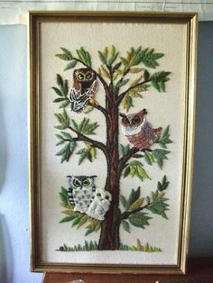 vintage crewel work