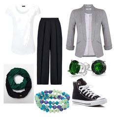 """""""No Heels Tuesday Outfit"""" by direyna on Polyvore featuring Iris & Ink, Miss Selfridge, Joseph, Bling Jewelry, Converse, Calvin Klein and Chaps"""