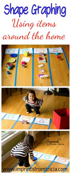 Graphing Shapes (preschool or kindergarten) Preschool Learning, Kindergarten Math, Early Learning, Fun Learning, Preschool Activities, Preschool Shapes, Shape Activities, Educational Activities, Math Classroom