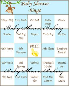 Baby Shower Bingo is a great game to have at any baby shower! This listing is for 40 different printable monkey themed Bingo cards for you to print out and give to your guests. Each Bingo card is different in order to help prevent multiple winners. Each card is made on a standard