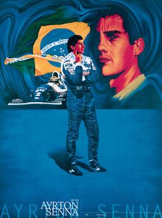 Ayrton Senna F1 Formula 1 Mclaren HONDA Lotus Williams Japan Limited Rare Poster