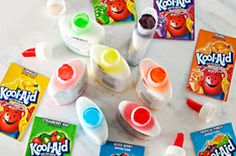 Sure, you can make watercolor-style art supplies with KOOL-AID and water. Or you can make this thicker version with glue. Either way, the kids love it!