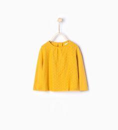 T-shirt en coton organique plumetis de Zara Taille 6-9 mois